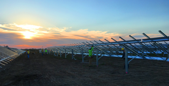 Solar FlexRack Installed in the largest solar project in Iowa
