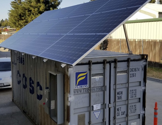 Check Out This Solar Storage Microgrid Housed In A