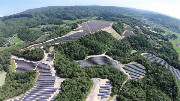 Kumenan PV plant Japan - LR