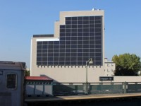 Check out this 'solar wall' installed on the side of a New York hospital