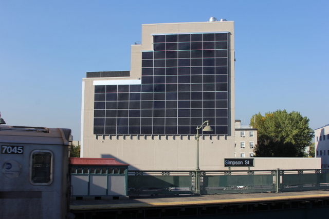 Check Out This Solar Wall Installed On The Side Of A New