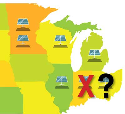 Solar in the Midwest Map