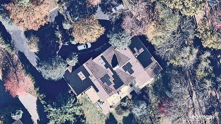 arial view of residential solar