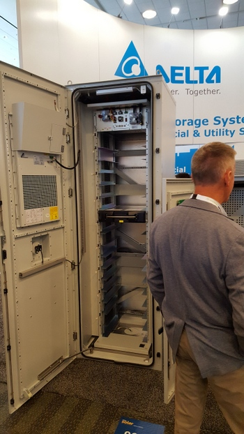Delta Debuts Outdoor Energy Storage System Cabinet At
