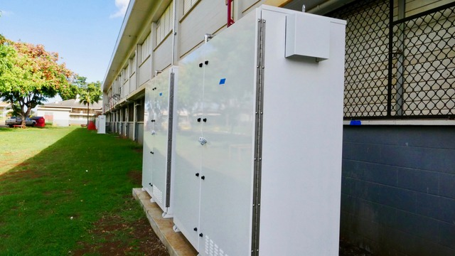 Waialua Energy Storage Cabinet closed