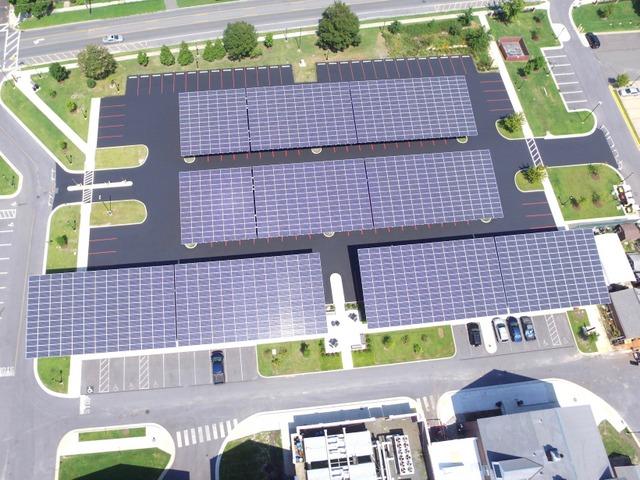 Standard solar parking canopy