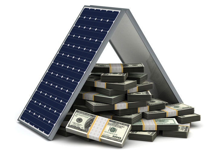 solar panels and money