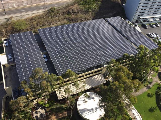 Century West solar carport aerial