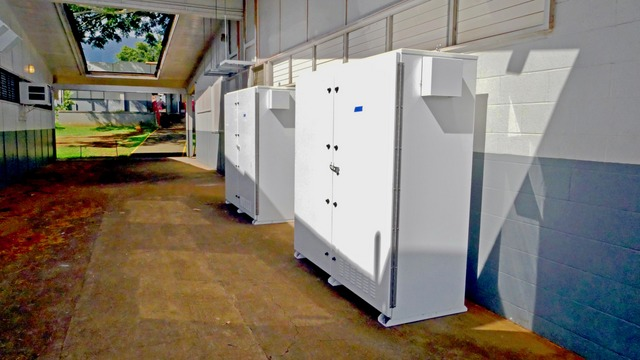 Waialua Energy Storage between buildings