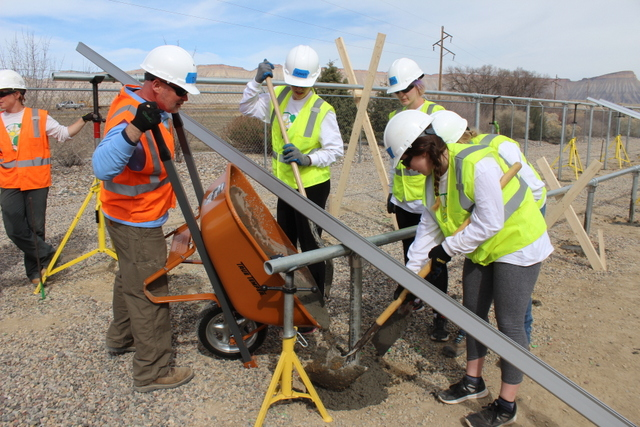Beloit University students help install community solar array in Colorado_GRID2017_2