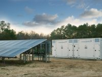 Shown here is one of Cypress Creek's 12 solar-plus-storage installations in North Carolina. The projects will provide 12 MWh of Lockheed Martin GridStar™ Lithium energy storage. (PRNewsfoto/Lockheed Martin)