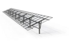 Unirac debuts shared rail version of its Ground Fixed Tilt system