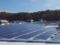 Klear Vu's rooftop solar array in Fall River, MA. (PRNewsfoto/Dynamic Energy Solutions, LLC)