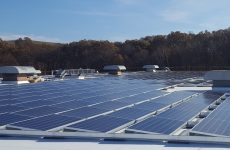Klear Vu's rooftop solar array in Fall River, MA. (PRNewsfoto/Dynamic Energy Solutions, LLC)