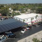Florida's Advanced Roofing builds out demo solar carport to promote the idea to local business