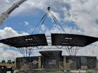 Solar canopy installed in just five days, ready for upcoming Sturgis Motorcycle Rally