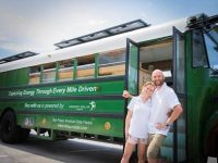 Mission Solar is sponsoring a couple on a sustainable, solar-powered bus trip around the country
