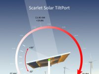 This new carport design from Scarlet Solar tilts to boost energy production