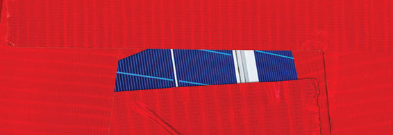 red tape on solar panels