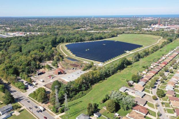 Cuyahoga County solar landfill