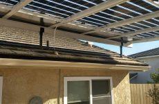 The Skylift is a new mounting product designed for attaching to an existing roof, grounding one end of the patio while elevating the ceiling and solar array.