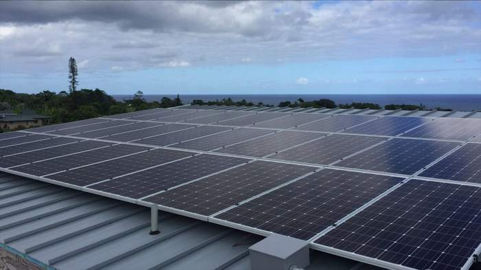 Simpliphi commercial solar storage installation