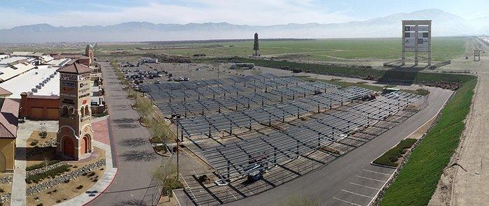 solar carport construction
