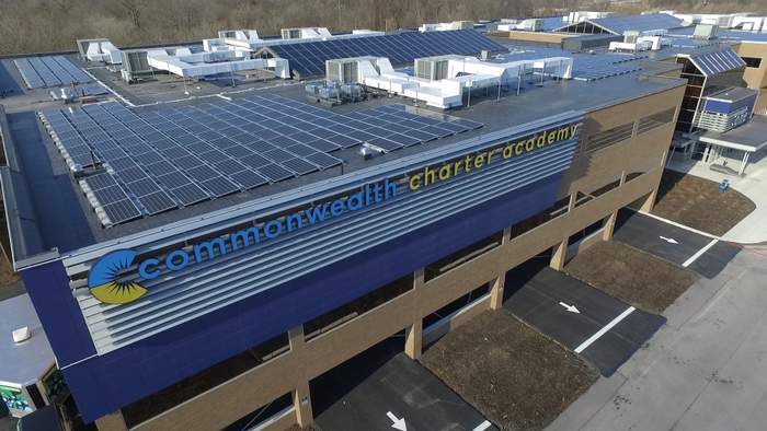 commonwealth charter school solar project