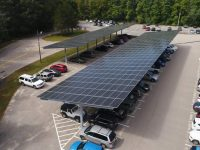 HVAC company Trane gets into solar PV installation business, develops carports for five schools in Massachusetts