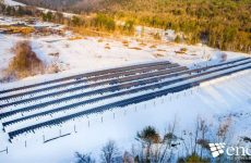 Community solar project developed on a brownfield at Long View Forest's Vermont headquarters