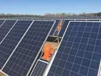 Sapphire Solar Project, a 2.47-MW install in Lake City, S.C., using Solar FlexRack's TDP 2.0 Solar Tracker.