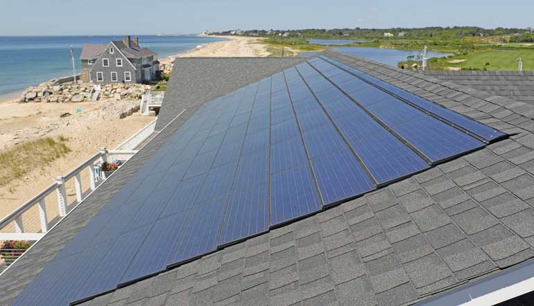Apollo II solar roofing system