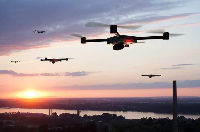 solar shading drones