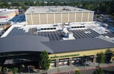 A SunPower Helix Roof solar project is delivering clean electricity to the Santa Rosa Whole Foods Market where a Helix Storage system is also installed to further decrease demand charges for the organic grocer.