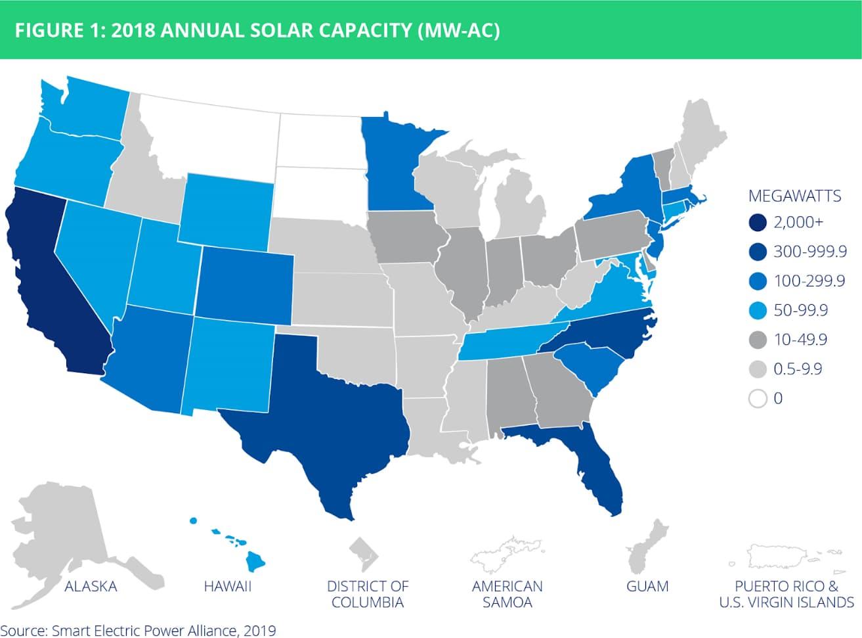 utility scale solar map