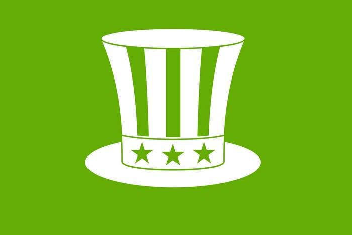 Uncle sam hat icon green