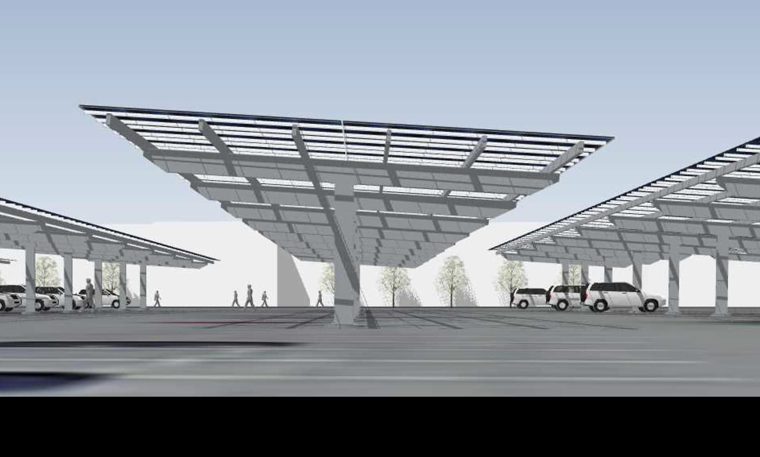 Ground Level - Keesler Air force base solar carport