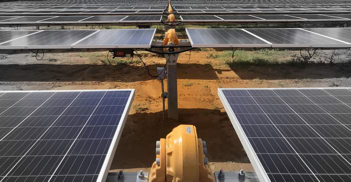 Solar FlexRack TDP 2 Solar Trackers with BalanceTrac installed in Georgia solar project