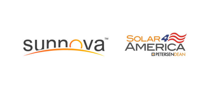 sunnova and petersenDean solar roof