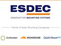 Esdec acquires IronRidge and Quick Mount PV to form the largest U.S. solar racking group