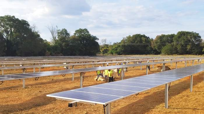Solar FlexRacks TDP 2 Trackers installed in REDI Solar Projects in Georgia
