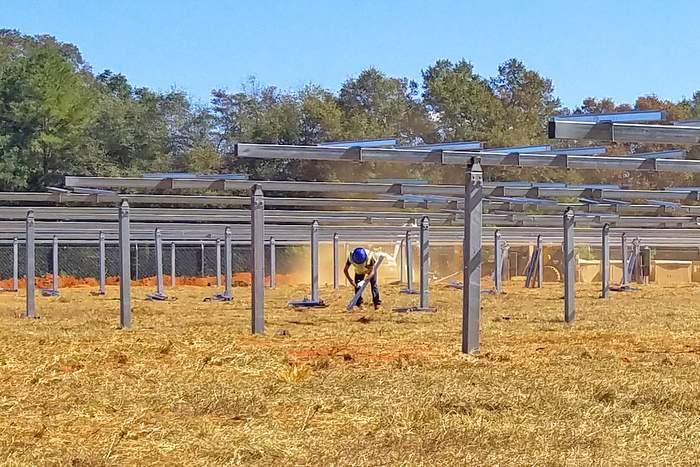 Solar FlexRacks TDP Solar Trackers installed in Georgia Solar Projects_Part of REDI Program-001