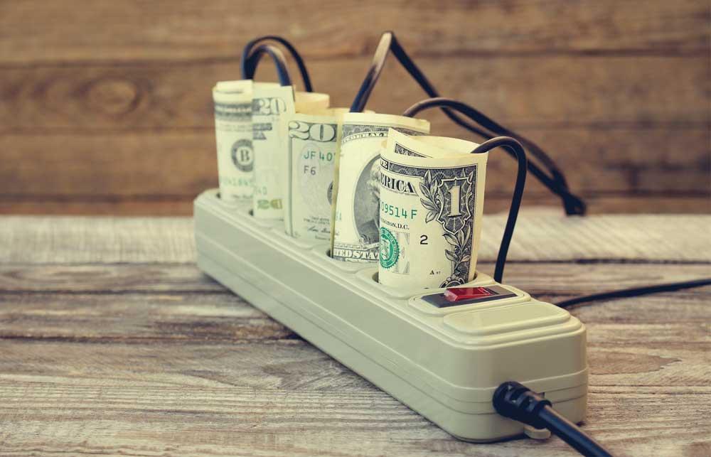 money in power strip