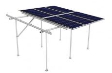 SunModo's Multi-Purpose System can be a solar roof, ground, canopy or multi-pole mount