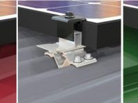 MetalX Racking consists of three small components: the roof mount, universal XClamps that fit modules from 30-50mm, and preassembled Couplings to join modules structurally and electrically.