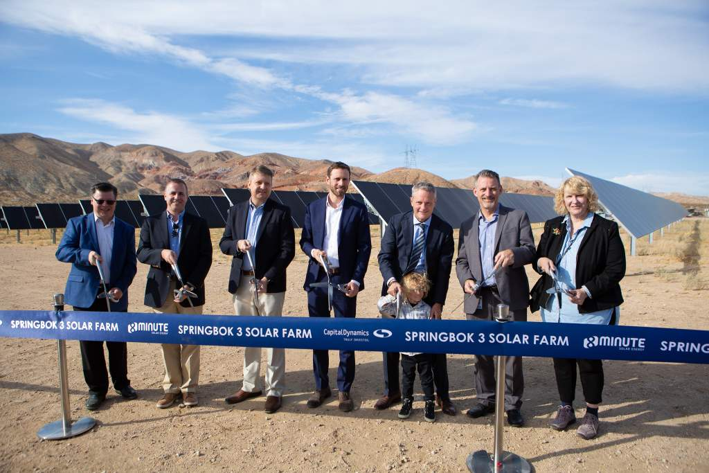 8minute Solar Energy Capital Dynamics cut ribbon on 450-MW Springbok Solar