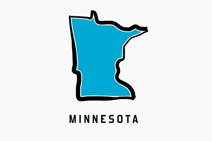 Minnesota map outline