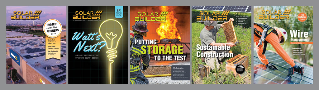 Solar Builder covers 2019