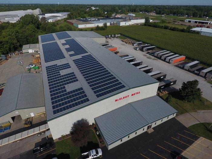 mcelroy metal solar roof