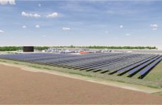 Rendering of the solar farm at St. Elmo, IL Conagra facility